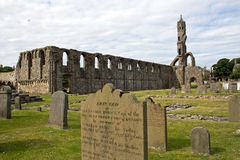 Scotland, st. andrews cathedral. Ruin of st. andrews cathedral stock photos
