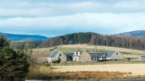 Scotland - stone farm Royalty Free Stock Photo