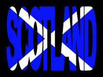 Scotland text with flag Stock Images