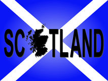 Scotland text with map Royalty Free Stock Photos