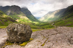 Scotland-Three Sister Mountain range in Glencoe Stock Photo
