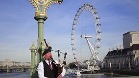 Scotland traditional performer in London Royalty Free Stock Photography
