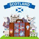 Scotland Travel Background royalty free illustration