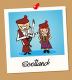 Scotland travel polaroid people Royalty Free Stock Photos