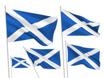 Scotland vector flags Royalty Free Stock Photo