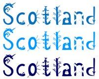 Scotland vector lettering royalty free illustration