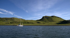 scotland yacht royaltyfri fotografi