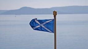 Scotlands nationale vlag royalty-vrije stock afbeeldingen