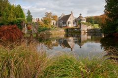 Scotney Castle autumn scene in England Royalty Free Stock Images