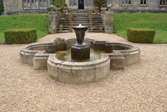 Scotney Castle fountain in Lamberhurst, Kent, England, Europe Royalty Free Stock Photos