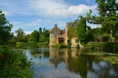 Scotney slott Arkivfoto