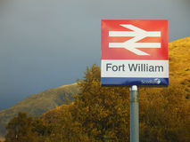Scotrail emblem by by the station. Royalty Free Stock Photo