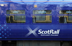 Scotrail train in Edinburgh Royalty Free Stock Photography