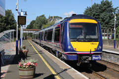 Scotrail turbostar dmu at Broughty Ferry station Royalty Free Stock Photo