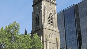 Scots Church in Melbourne stock video