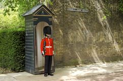Scots Guard at Saint James Palace Royalty Free Stock Photography