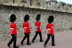 Scots Guards. Battalion of her majesties forces Stock Photo