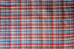 Scots pattern fabric. Scots pattern fabric closeup for background Royalty Free Stock Photo