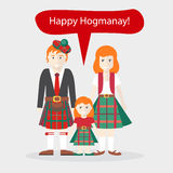 Scots People Congratulations Happy New Year Stock Photography
