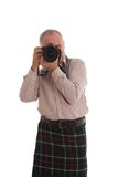 Scots photographer at work Royalty Free Stock Photo