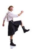 Scotsman που απομονώνεται αστείος στο λευκό Στοκ εικόνα με δικαίωμα ελεύθερης χρήσης
