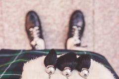 Scotsman στη σκωτσέζικη φούστα στοκ φωτογραφίες με δικαίωμα ελεύθερης χρήσης