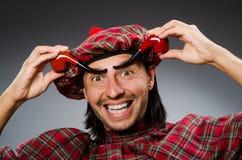 Scotsman divertido fotografía de archivo