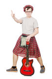 Scotsman playing guitar Stock Photo