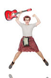 Scotsman playing guitar Stock Photography