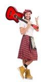 Scotsman que toca la guitarra imagenes de archivo