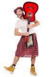 Scotsman que toca la guitarra imagen de archivo