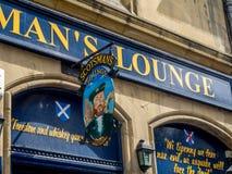 Scotsman`s Lounge, Cockburn street, Edinburgh Royalty Free Stock Image