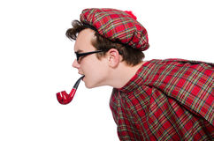 Scotsman with smoking pipe Stock Photos