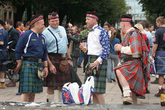 Scotsmen in Litouwen Royalty-vrije Stock Foto's