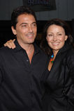 Scott Baio,Marianne Maddalena. Actor SCOTT BAIO & producer MARIANNE MADDALENA at the Los Angeles premiere of her new movie Red Eye. August 4, 2005 Los Angeles Stock Photos