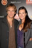 Scott Bakula, Chelsea Field Photographie stock