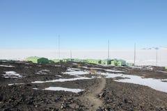 Scott Base, Antarctica Stock Images
