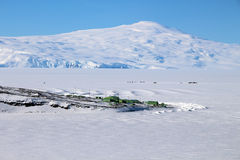Scott Base, die Antarktis lizenzfreies stockfoto
