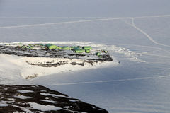 Scott Base, Ross Island, Antarctica Stock Photo