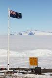 Scott Base Ross Island, Antarktis Arkivfoto