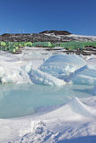 Scott baza, Antarctica fotografia stock