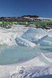 Scott baza, Ross wyspa, Antarctica zdjęcia stock
