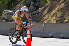 Scott Bowe in the Coeur d' Alene Ironman cycling event Royalty Free Stock Photo