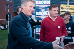 Scott Brown campaigns in Amherst, New Hampshire, USA Stock Photo