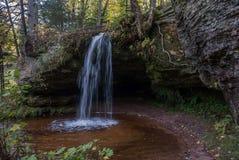 Scott cai, Allegan County, Michigan, EUA Fotografia de Stock