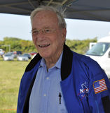 Scott Carpenter. The first day issue dedication ceremony Mercury Project/Messenger Mission stamp was unveiled this afternoon at Kennedy Space Center Visitor Stock Photo