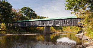 Scott covered bridge. The Scott covered bridge near Townshend in Vermont Royalty Free Stock Image