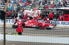 Scott Dixon leaving the Pit. stock photography