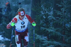 Scott Gow - biathlon Royalty-vrije Stock Fotografie