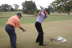 Scott and Harmon, Tour Championship, Atlanta, 2006 Royalty Free Stock Photos